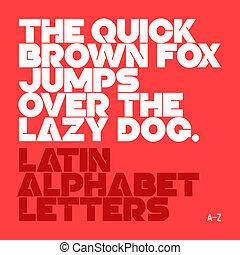 alfabeto, latín, cartas