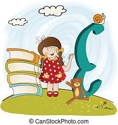 alfabeto, lettere, bambini