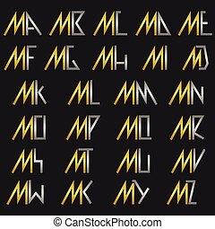 alfabeto, m, carta