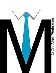 alfabeto, m, logotipo