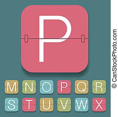 alfabeto, marcador, mecánico
