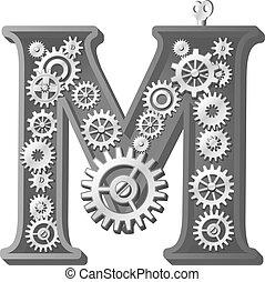alfabeto, meccanico