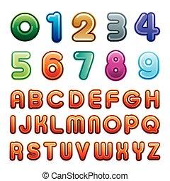 alfabeto, número
