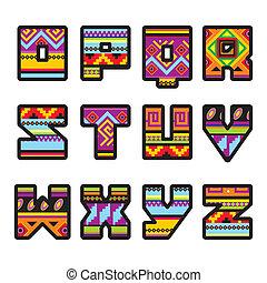 alfabeto, (part, mexicano, 2)
