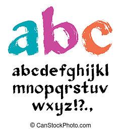 alfabeto, pennello