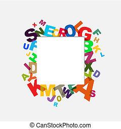 alfabeto, plano de fondo