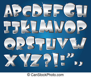 alfabeto, prata