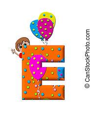 alfabeto, preparando, a, fiesta, e