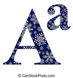 alfabeto, primeiro, letra, inglês