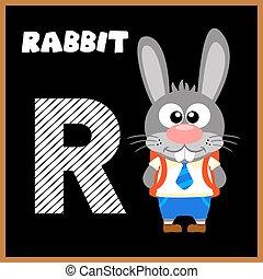 alfabeto, r, letra, inglês
