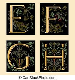 alfabeto, sixteenth-century