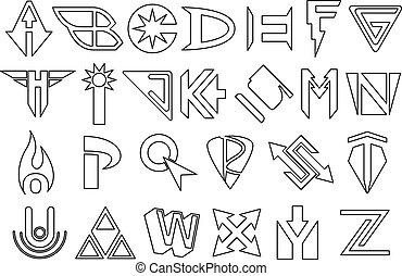 alfabeto, superhero