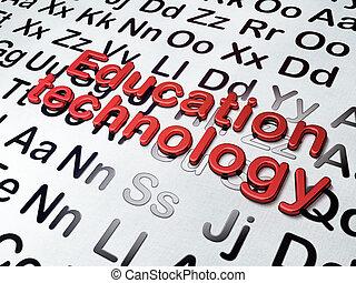 alfabeto, tecnología de educación, concept:, plano de fondo