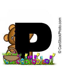 alfabeto, teddy, caccia uovo pasqua, p