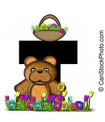 alfabeto, teddy, caccia uovo pasqua, t