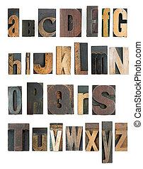 alfabeto, texto impreso