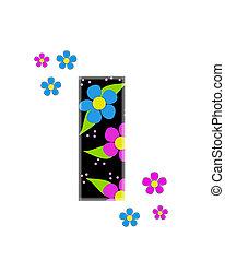 alfabeto, topia, flor