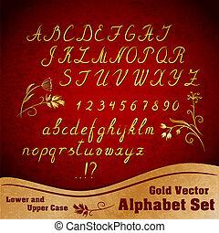 alfabeto, vector, conjunto