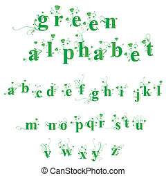 alfabeto, verde