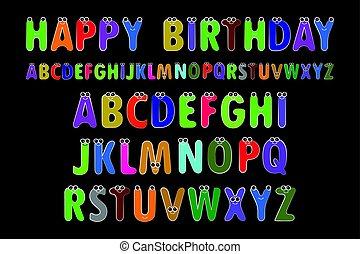 alfabeto, vettore, illustrazione, inglese