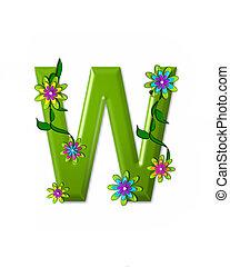 alfabeto, w, wonderland
