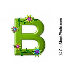 alfabeto, wonderland, b