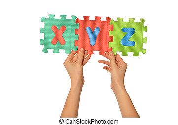 alfabeto, xyz