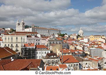 alfama, -, portugal, lissabon