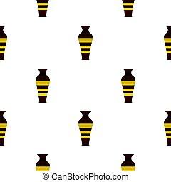 alfarería, vasija, egipcio, seamless, patrón