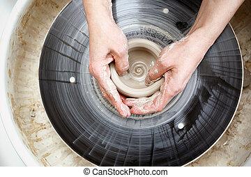 alfarero, wheel.
