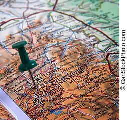 alfiler, mapa