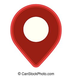 alfiler, símbolo, aislado, ubicación, plano de fondo, blanco