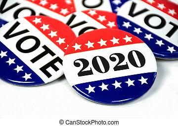 alfileres, votación, 2020