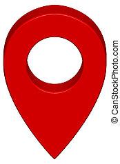 alfinete, mapa, ícone