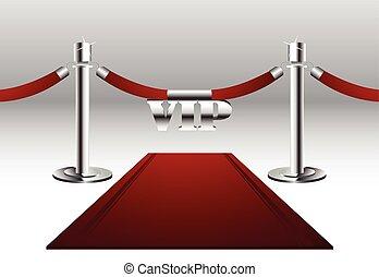 alfombra roja, con, vip, señal
