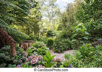 Alfred Nicholas Memorial Gardens on a warm summer's day near Melbourne, Victoria, Australia