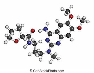 Alfuzosin benign prostate hyperplasia (BPH) drug molecule....