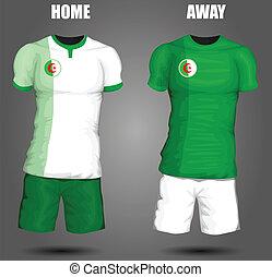 algéria, futball, mez