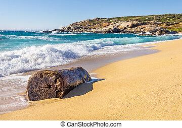 Algajola beach in Corsica, France