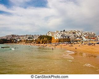 algar, -, portugalia, morze, plaża, prospekt