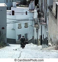 algarrobo, motorrad, spanien