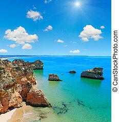 Algarve beach Dos Tres Irmaos (Portugal).