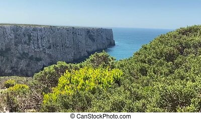 algarve, cap, vincent, paysage, saint, beau, portugal