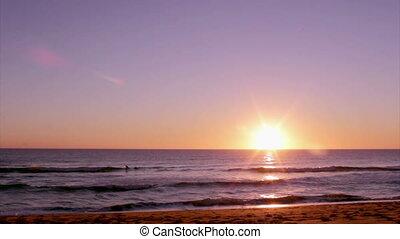Algarve - Dunas Douradas Sunset - Sunset at Dunas Douradas...