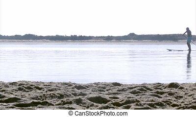 Algarve Fuseta Ria Formosa Kayak - Paddler silhouette at...