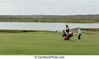 Algarve golf course scenery at Ria Formosa conservation...