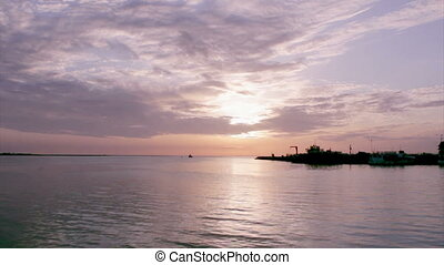 Algarve-Olhao Fishing Port Sunset D - Sunset timelapse and...