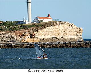 algarve, portimao-resort, 大西洋, 葡萄牙, 海岸