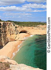 Algarve region beach