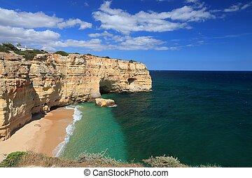 Algarve region beach